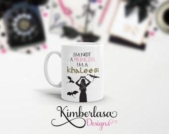khaleesi mug, princess mug, got mug, dragon mug, targaryen mug, danaerys mug, mother of dragons mug DESIGN 1