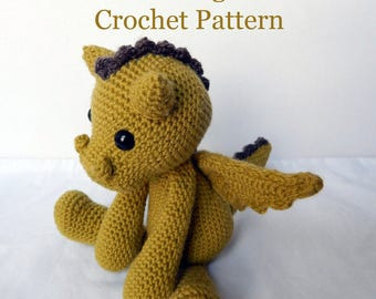 PATTERN: Galahad the Dragon Crochet Amigurumi Pattern