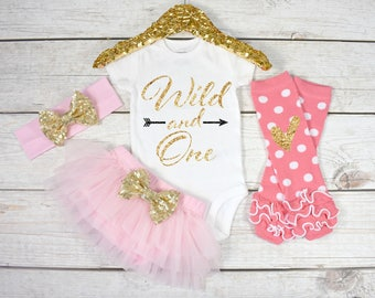 Wild and One, 1st Birthday Girl Outfit, First Birthday Outfit Girl, One Birthday Outfit, 1st Birthday Girl, Cake Smash  (S47) (1BD) (LTPK)