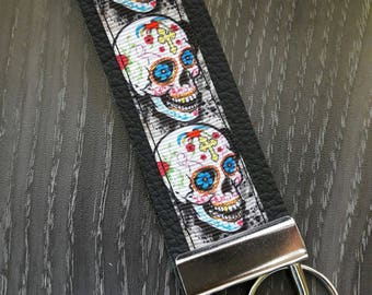 Key Fob - Skulls, dia de los muertos