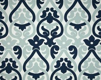 Scalloped Valance 52 x 16 50 x 16 window valances navy blue valance Kitchen Valance lined valance Fully lined, custom valance Window valance