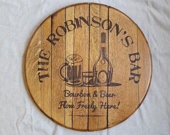 Bourbon Bar Bourbon Barrel Head