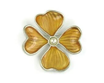 Anne Klein Dogwood Blossom Brooch
