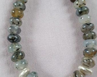 Rutilated quartz - noble shades of grey