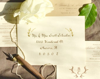 THE Rustic Script Wedding Envelope Calligraphy