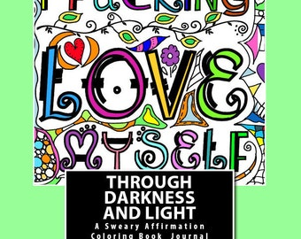 download and color coloring book 30 images i fcking love myself through darkness
