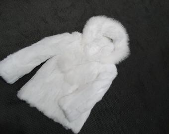 Winter children fur coat F115