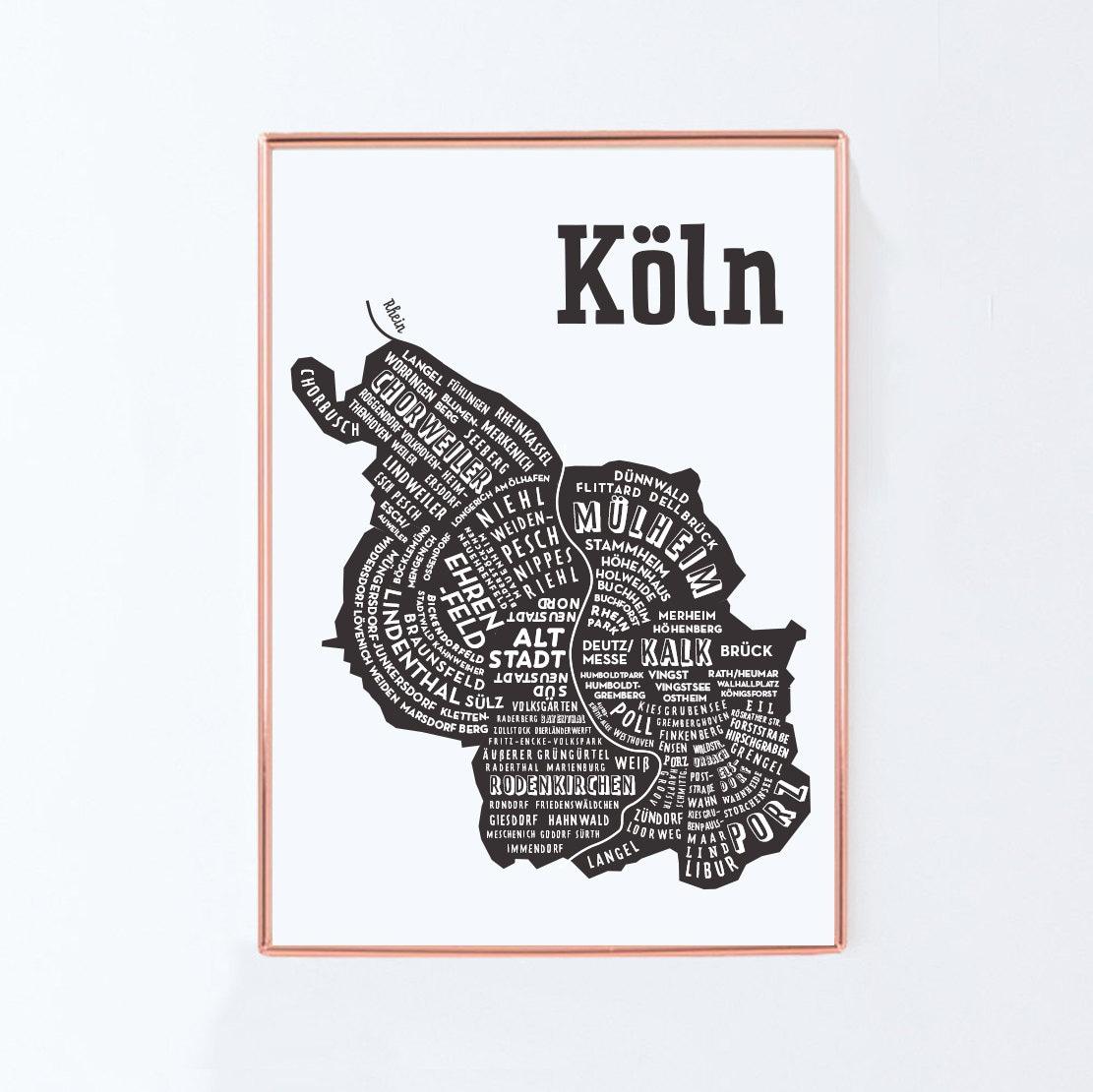K ln k ln citymap deutschland karte grafik design poster for Grafikdesign koln
