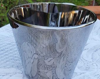 Vintage Silver Iridescent Ice Bucket