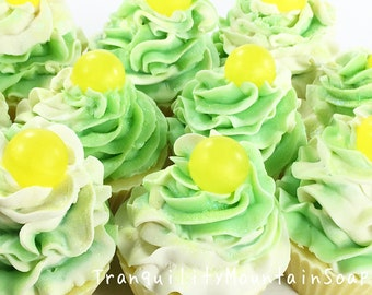 LIMONCELLO Soap Cupcake Soap Party Favors Cupcake Soaps Artisan Soap Cupcakes Handmade Soap Birthday Gift For Kids Housewarming Gift For Her