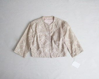 50s bolero jacket | silk brocade jacket | cropped jacket