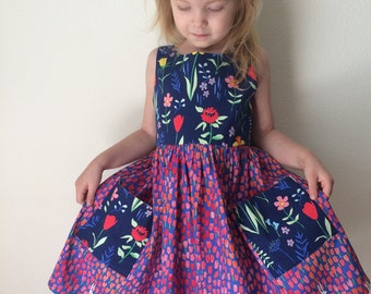 The Lily Dress in Summer Floral