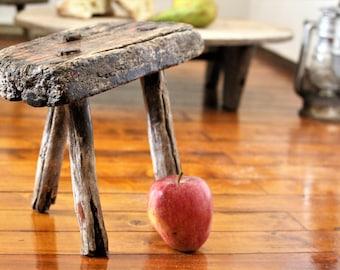 Rustic Stool - Antique Stool - Three Legged Milking Stool - Primitive Stool - Wooden Stool - Wood Stool - Antique Furniture - Plant Holder