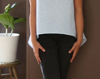 Oversize cotton top, Short sleeves top, organic cotton top, minimalist top