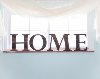 Rustic Home Decor, Home Sign, Wood Letter for Walls, Farmhouse Decor, Wooden Letters, Wall Letters, Farmhouse Wall Decor, Kitchen Wall Decor