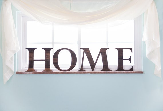 Rustic Home Decor Home Sign Wood Letter For By CurtisandFoster