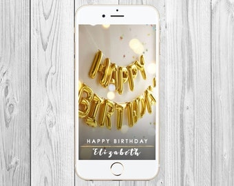 Birthday Geofilter, Custom Birthday Snapchat Filter, Birthday Snapchat Filter, 30th Birthday Party