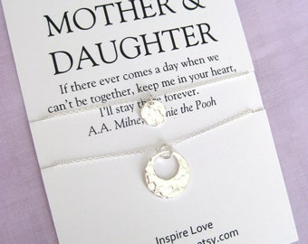 Mother Daughter Necklace. 60th Birthday Gift for Mom. 50th Birthday Gift mother daughter. Gift for her. Gift for mom