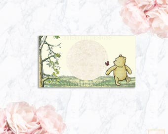 Classic Winnie the Pooh Place Cards, Table Labels, Food Cards, Party Decor | Matching Add-On, 026-P | Prisellie Designs