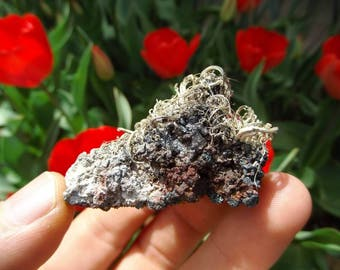 Extemley Rare Large Native Silver Filaments in  Matrix | Natural Silver Collectors Piece, Cabinet Specimen Mineral Specimen # 3