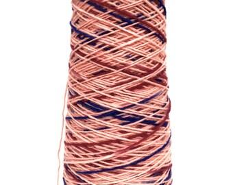 SAORI Yarn on Cone - Pink Blue Wool - Weaving Arts Austin
