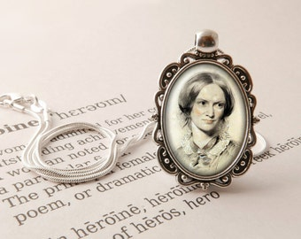 Charlotte Bronte Pendant Necklace - Charlotte Bronte Jewelry, Literary Gift, Jane Eyre Necklace, Library Gift, Bronte Sisters Jewellery