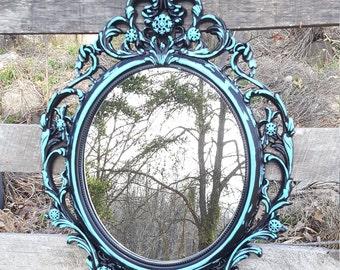 Shabby Chic Mirror Baroque Mirror Ornate wall mirror Nursery Mirror Oval Decorative Mirror Princess Mirror