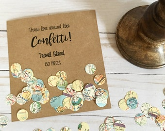 Travel Confetti | Map Confetti | Party Confetti | Paper Confetti | Travel Theme Confetti | Destination Wedding Confetti