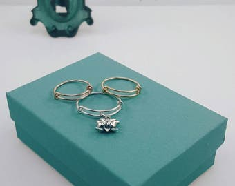 Expandable Ring   Charm Ring   Midi Ring   High-Polish Finish   Rose   Silver   Yellow