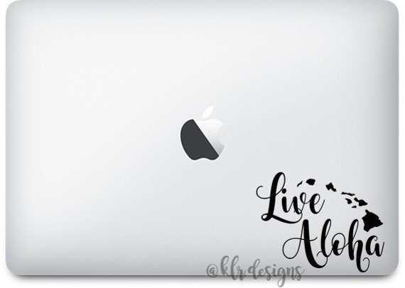 Live Aloha Hawaii Custom Vinyl Decal Sticker Macbook - Custom vinyl decals hawaii