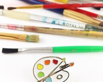 Paint Palette Enamel Pin