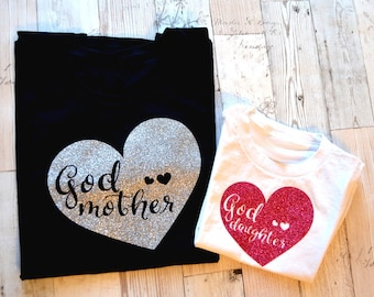 Godmother / Goddaughter Matching Shirts - Goddaughter Gift - Godmother Gift - Baby Gift - Baby Shower Gift - Godchild Gift - Baby Gift