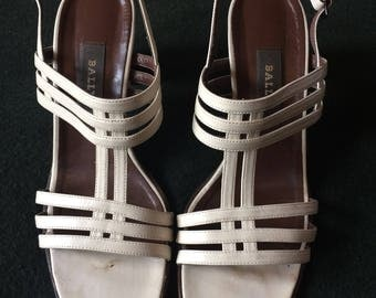 Vintage 90s BALLY Heeled Sandals