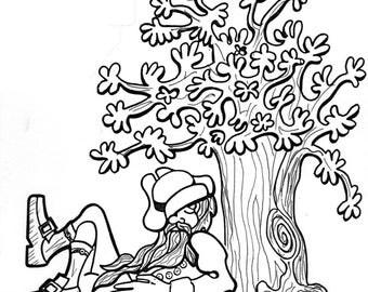 Rip Van Winkle Lawn Decor #613 - Woodworking / Craft Pattern