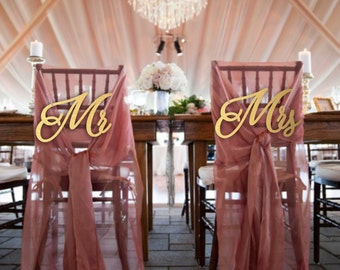 Sale Mr and Mrs.Chair Sign Wedding.Mr and Mrs Chair Sign.