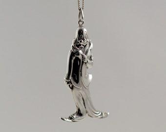 """Sterling Silver """"The Clown"""" Charm Ornament, Pendant 1978 Cazenovia RM Trush Designed"""