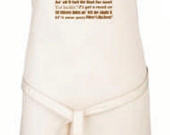 Full Length Natural Cotton Apron