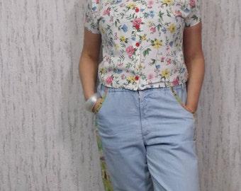 Vintage Spring Flowers Shirt