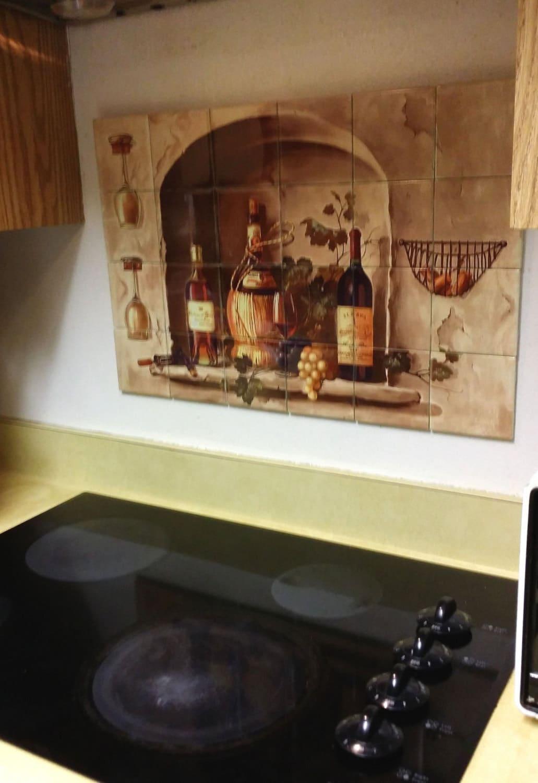 Hangable Tile Kitchen Backsplash