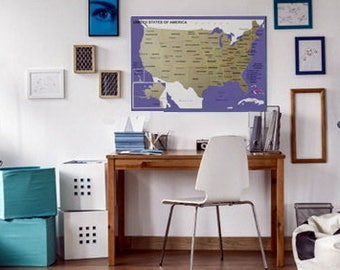 scratch map, scratch off map, Scratch Off US Map, scratch off world map, Pay Less, Get More, gift for traveler, carte gratter, scratch Off