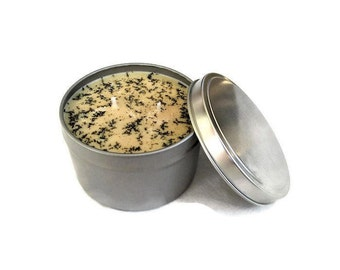 Frankincense Candle Handmade 8 oz tin - Soy Candle Handmade - Soy Wax Candle - Green Tea Candle - Relaxing Candle - Organic and Vegan Candle