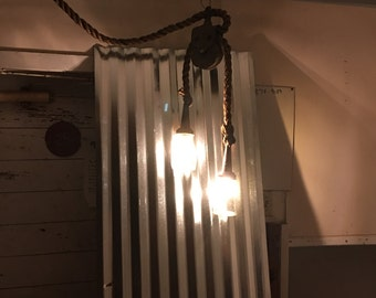 Hanging rustic gas jar lights