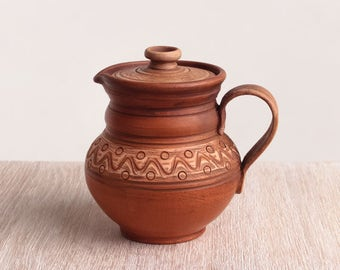 Ceramic pot, pottery, stoneware, brown, handmade ceramic pot, rustic pot, clay pot, eco friendly, large ceramic pot,