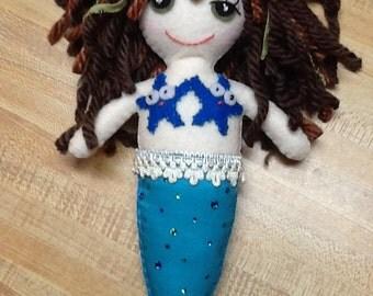 "9"" Felt/Fabric Mermaid Doll - Made to order, customize"