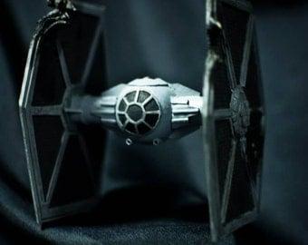 Star wars scale model Tie Fighter.