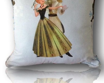 """Children's Room, Throw Cushion,  Made in Frozen Fabric, Photos show back and Front 16"""" x 16"""""""