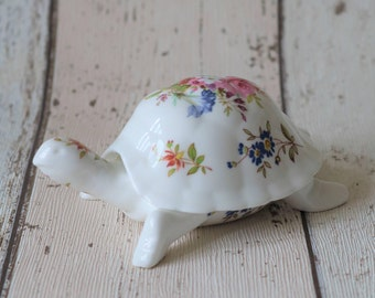 Lovely Hammersley Fine Bone China Tortoise Trinket Box - Made In England
