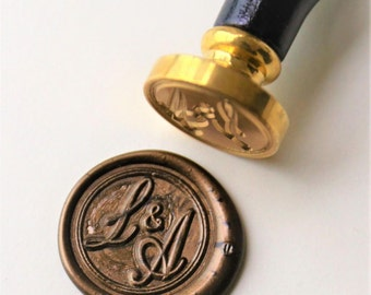 Personalized Initials wax seal stamp/Custom monogram wedding seals/wedding invitation seal/custom wedding stamp