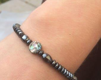 Abalone/Hematite Bracelet (Charity Donation)