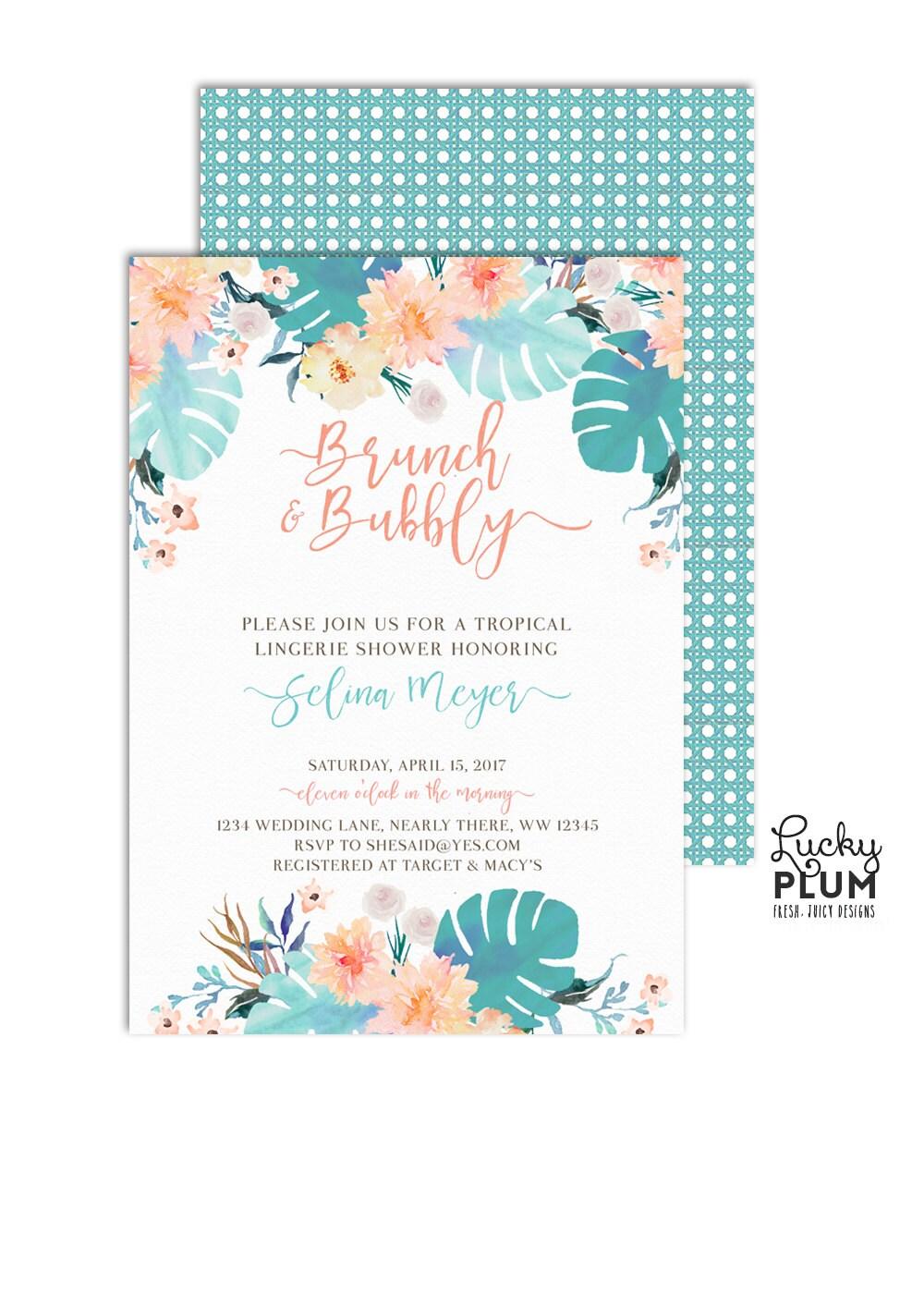 Brunch and Bubbly Bridal Shower Invitation / Brunch Bridal Shower ...